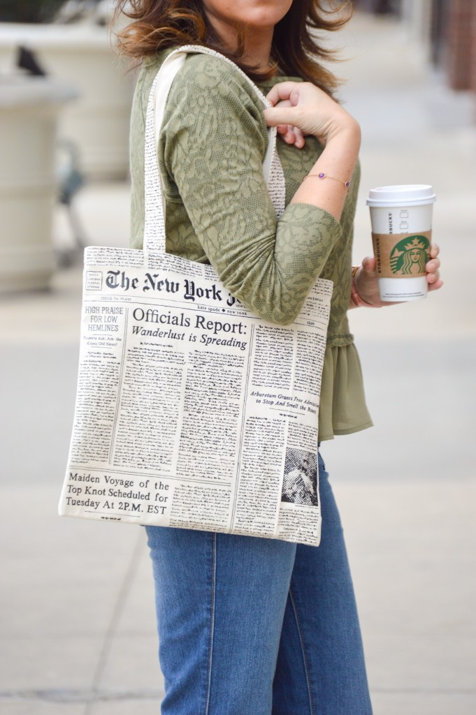 Kate Spade NY newspaper bag